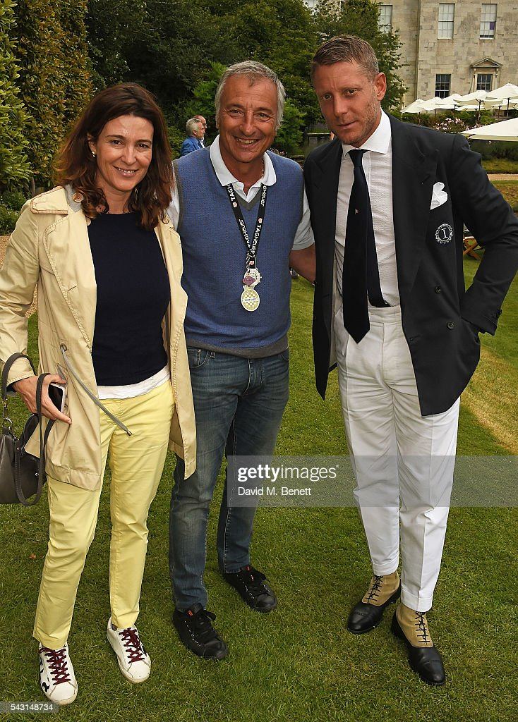 Guest, Riccardo Patrese and <a gi-track='captionPersonalityLinkClicked' href=/galleries/search?phrase=Lapo+Elkann&family=editorial&specificpeople=771607 ng-click='$event.stopPropagation()'>Lapo Elkann</a> attend The Cartier Style et Luxe at the Goodwood Festival of Speed at Goodwood on June 26, 2016 in Chichester, England.
