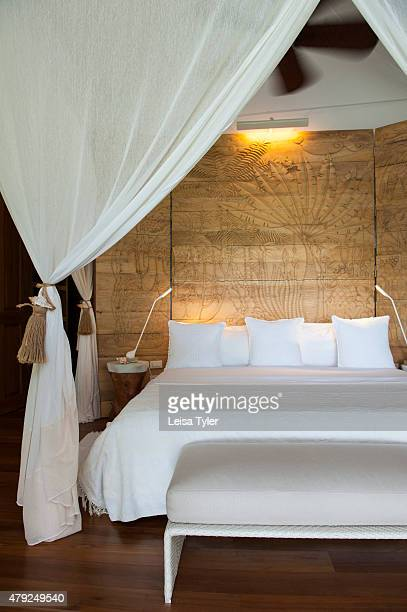 A guest room at Dedon Island resort the 'outdoor lab' of Dedon furniture a line of highend outdoor furniture made from recycled plastic owned by...