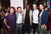 Guest Ryan Gall Kweku Mandela Hugh Evans CEO of Global Citizen and Tanyella Evans attend the 2016 Global Citizen Festival Launch Celebration at...