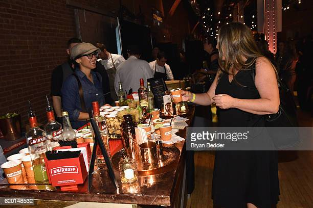 A guest samples a Smirnoff Moscow Mule at the Smirnoff Bar during the 2016 New York Taste presented by Citi hosted by New York Magazine on November 1...