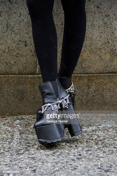 platform shoe stockfoto s en beelden getty images
