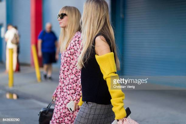 A guest seen in the streets of Manhattan outside Ulla Johnson during New York Fashion Week on September 7 2017 in New York City