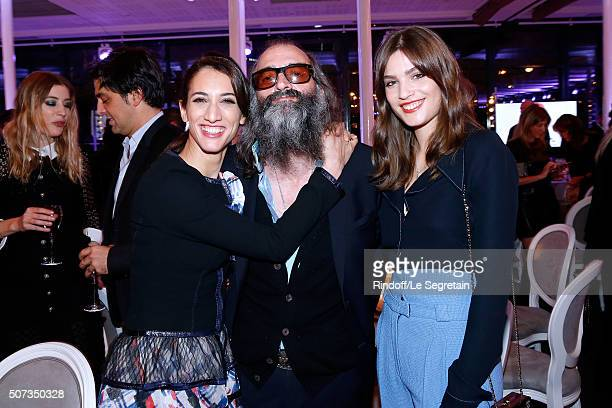 Guest Singer Warren Ellis and Actress Alma Jodorowsky attend the Sidaction Gala Dinner 2016 as part of Paris Fashion Week Held at Pavillon...