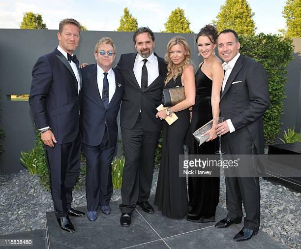 Guest Sir Elton John Keith Tyson Fru Tholstrup Maria Baibakova and David Furnish attend The 11th Annual White Tie and Tiara Ball to Benefit the Sir...