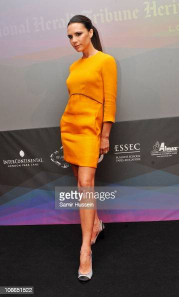 Guest speaker Victoria Beckham attends Day 1 of the International Herald Tribune Heritage Luxury Conference at theInterContinental Hotel on November...