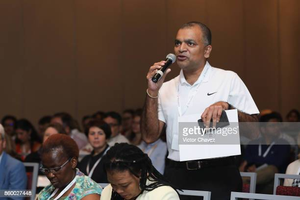 Guest speaks during a QA at the TB Alliance Stakeholders Association Annual Meeting at the Union World Conference on Lung Health at Hilton...