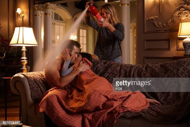 Guest star Andy Favreau Sofia BlackD'Elia and Kaitlin Olson in the 'The Condom' episode of THE MICK airing Tuesday Jan 17 831901 PM ET/PT on FOX