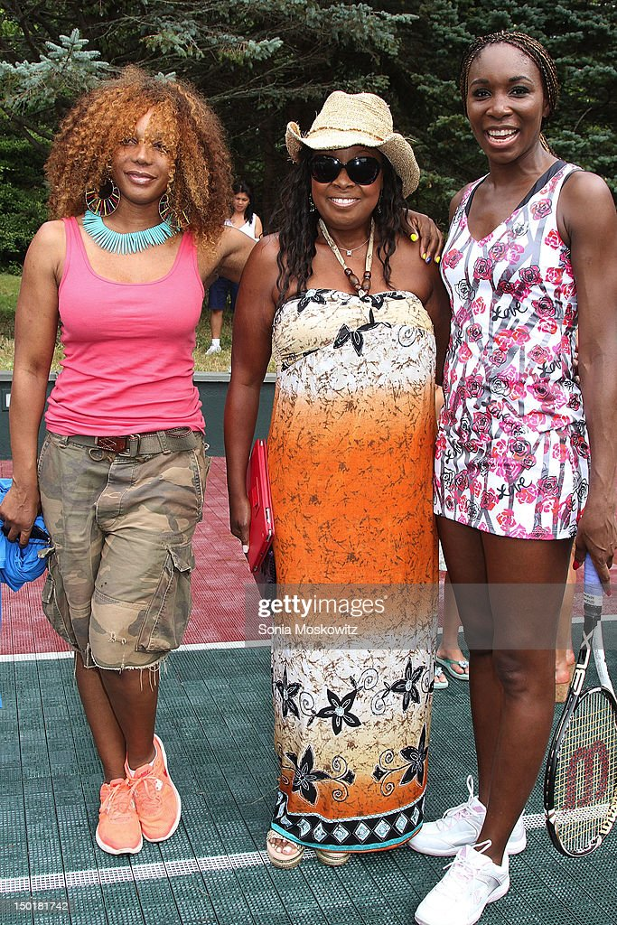 Guest, Star Jones and Venus Williams attend the EleVen by Venus Williams party on August 11, 2012 in Southampton, New York.