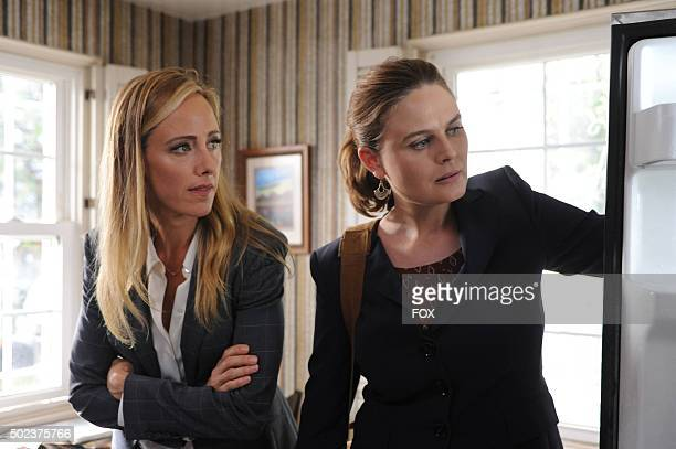 Guest star Kim Raver and Emily Deschanel in the 'The Brother in the Basement' episode of BONES airing Thursday Oct 8 on FOX