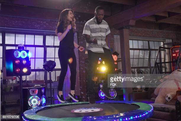 Guest star Nasim Pedrad and Lamorne Morris in the 'Socalyalcon VI' episode of NEW GIRL airing Tuesday March 14 on FOX