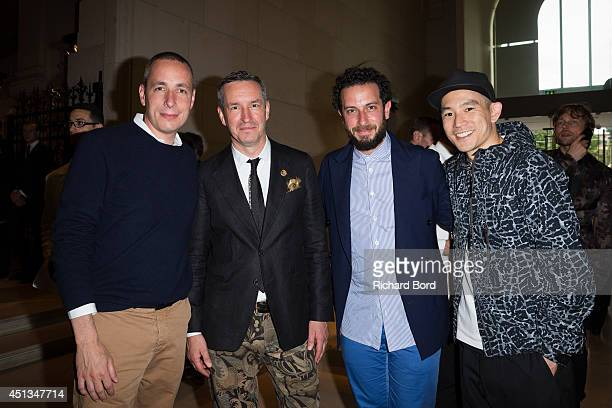 A guest Stylist Dries Van Noten a guest and Style Director at Details Magazine Eugene Tong attend the Dries Van Noten Exhibition Party as part of the...