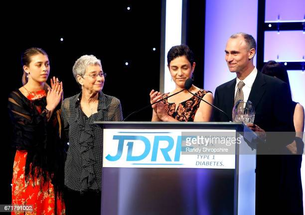 A guest Sybil Fields Debra Fields And Joel Fields attend JDRF LA's IMAGINE Gala to benefit type 1 diabetes research at The Beverly Hilton on April 22...