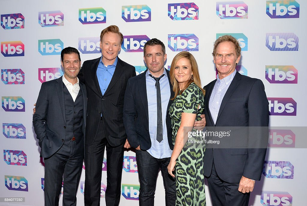 Guest talk show host Conan O'Brien actor Jason Jones TV host/comedian Samantha Bee and actor Jere Burns attend TBS's A Night Out With For Your...