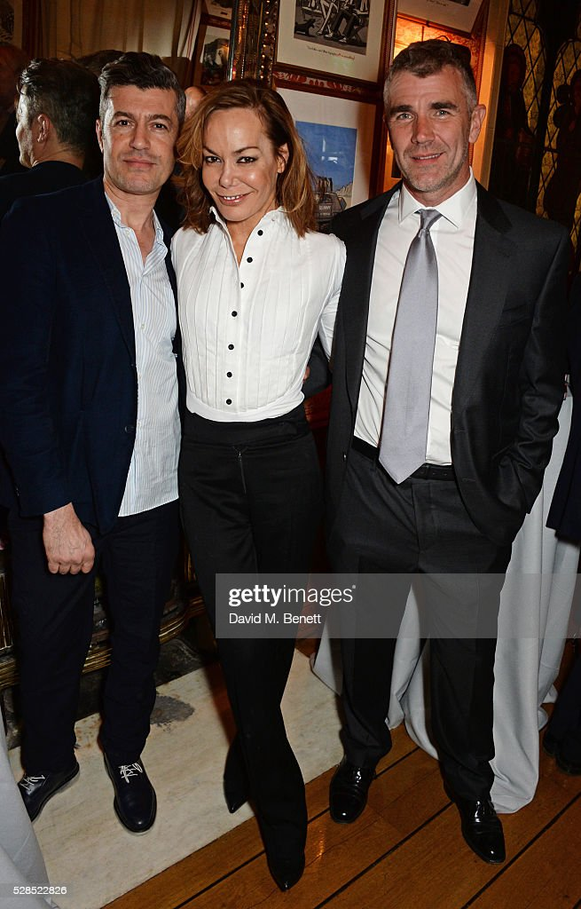 Guest, <a gi-track='captionPersonalityLinkClicked' href=/galleries/search?phrase=Tara+Palmer-Tomkinson&family=editorial&specificpeople=160882 ng-click='$event.stopPropagation()'>Tara Palmer-Tomkinson</a> and Ivan Massow attend the launch of Dame Joan Collins' new book 'The St. Tropez Lonely Hearts Club' at Harry's Bar on May 5, 2016 in London, England.