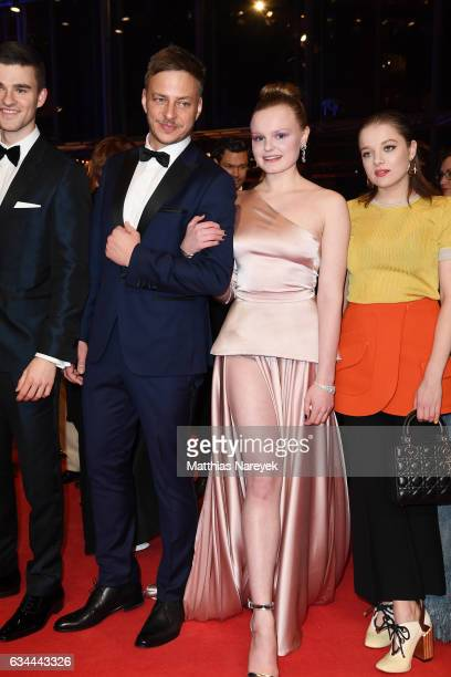 Guest Tom Wlaschiha Maria Dragus and Jella Haase attend the 'Django' premiere during the 67th Berlinale International Film Festival Berlin at...