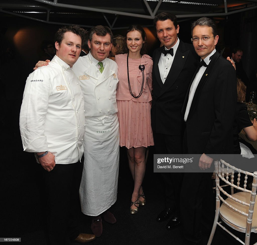 Guest, Toni Morwald, Sophie Ellis Bextor, Salvatore Ferregamo Junior and Jean Francois Ferret attend Relais & Chateaux's 'Diner des Grands Chefs London 2013' in aid of Action Against Hunger at The Old Billingsgate on April 22, 2013 in London, England.