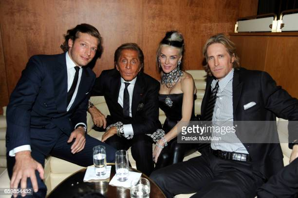 Guest Valentino Garavani Daphne Guinness and Bruce Hoeksema attend Celebration of the DVD release of VALENTINO THE LAST EMPEROR at The Standard on...