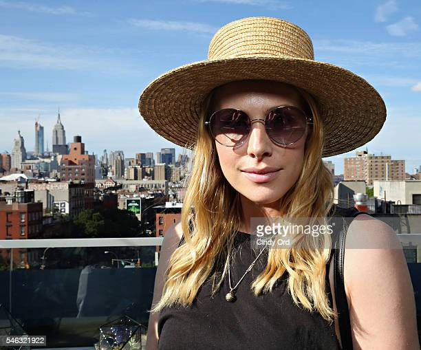 A guest wears Garrett Leight California Optical during GLCO Reggae Days at SIXTY Lower East Side on July 11 2016 in New York City