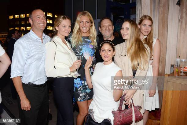 Guest Whitney Gilmore Stephanie Gilmore Arden Wohl Harvey Weinstein Ava Warbrick and Jana Crandal attend Cocktail party to celebrate ASP The World...