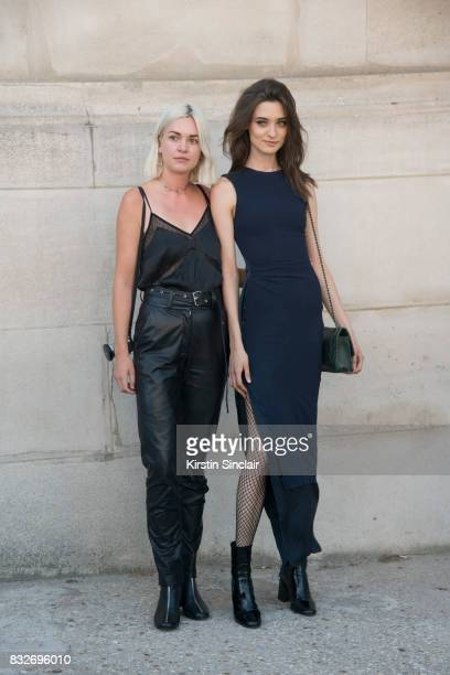 A guest with Model Daniela day 2 of Paris Haute Couture Fashion Week Autumn/Winter 2017 on July 3 2017 in Paris France