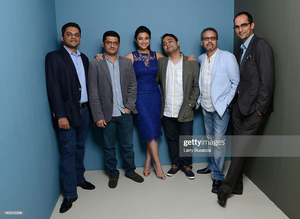 Guest, writer Jaideep Sahni, actress Parineeti Chopra, director Maneesh Sharma and Avtar Panesar attend 'A Random Desi Romance' Press Conference during the 2013 Toronto International Film Festival at TIFF Bell Lightbox on September 11, 2013 in Toronto, Canada.