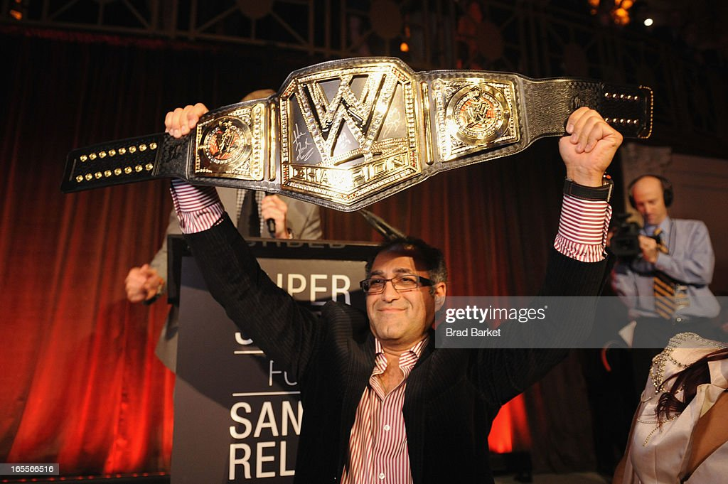 A guest WWE Superstars for Sandy Relief at Cipriani, Wall Street on April 4, 2013 in New York City.