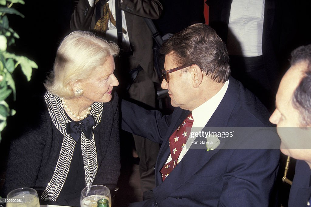 <a gi-track='captionPersonalityLinkClicked' href=/galleries/search?phrase=C.Z.+Guest&family=editorial&specificpeople=216140 ng-click='$event.stopPropagation()'>C.Z. Guest</a> & Yves Saint Laurent during Launch Party for Yves Saint Laurent Fragrance 'Champagne' - September 12, 1994 at Statue of Liberty in New York City, New York, United States.