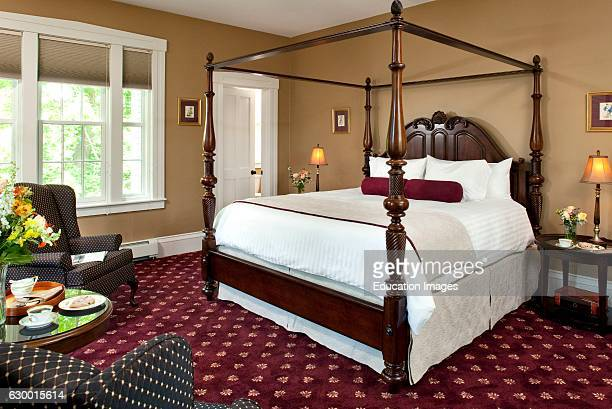 Guestroom in Cape Cod Inn with Canopy Bed Captains Manor Inn Falmouth MA