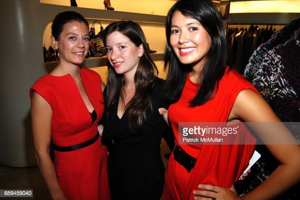 Guests and Andrea Raspanti attend ALEXANDER MCQUEEN One Night in Fashion Store Party New York NY at Alexander McQueen Store w14th Street on September...
