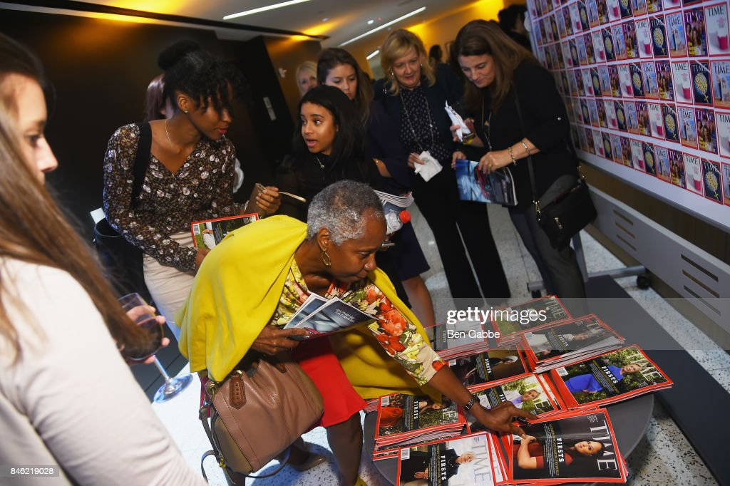 Guests are gifted copies of TIME Magazine during TIME Celebrates FIRSTS on September 12, 2017 in New York City.