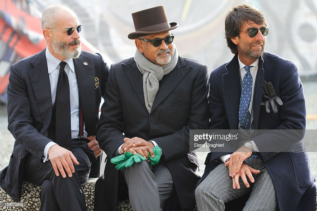 Guests are seen at Pitti Immagine Uomo 83 on January 9, 2013 in Florence, Italy.