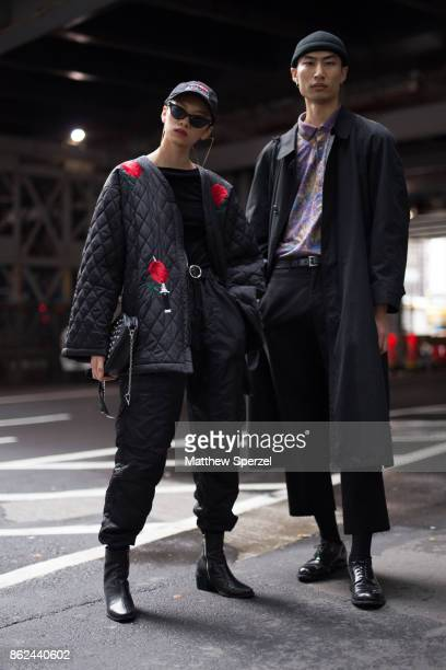 Guests are seen attending thibaut during Tokyo Fashion Week on October 17 2017 in Tokyo Japan