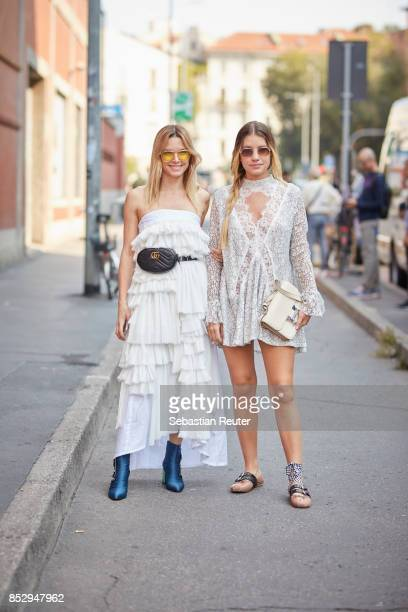 Guests are seen during Milan Fashion Week Spring/Summer 2018 on September 24 2017 in Milan Italy