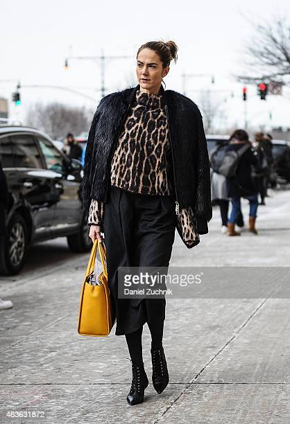 Guests are seen outside the 31 Phillip Lim show on February 16 2015 in New York City