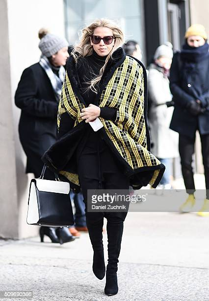 Guests are seen outside the Creatures of Comfort show during New York Fashion Week Women's Fall/Winter 2016 on February 11 2016 in New York City