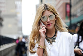 Guests are seen outside the Diesel show on September 9 2014 in New York City