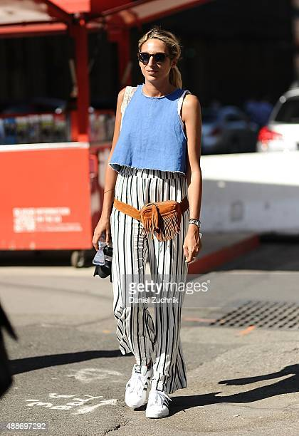 Guests are seen outside the DKNY show during New York Fashion Show 2016 on September 16 2015 in New York City