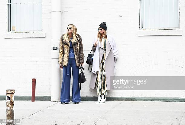 Guests are seen outside the DKNY show during New York Fashion Week Women's Fall/Winter 2016 on February 17 2016 in New York City