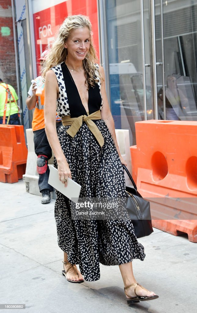 Guests are seen outside the Proenza Schouler show on September 11, 2013 in New York City.