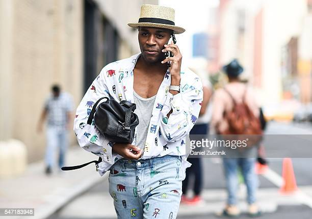 Guests are seen outside the Rochambeau show during New York Fashion Week Men's S/S 2017 Day 3 on July 13 2016 in New York City