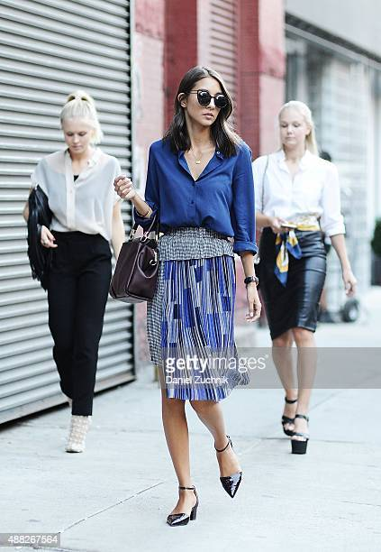Guests are seen outside the Thom Browne show during New York Fashion Week 2016 on September 14 2015 in New York City