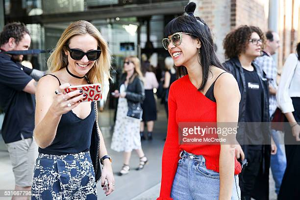 Guests arrive ahead of the Misha Collection show at MercedesBenz Fashion Week Resort 17 Collections at Carriageworks on May 16 2016 in Sydney New...