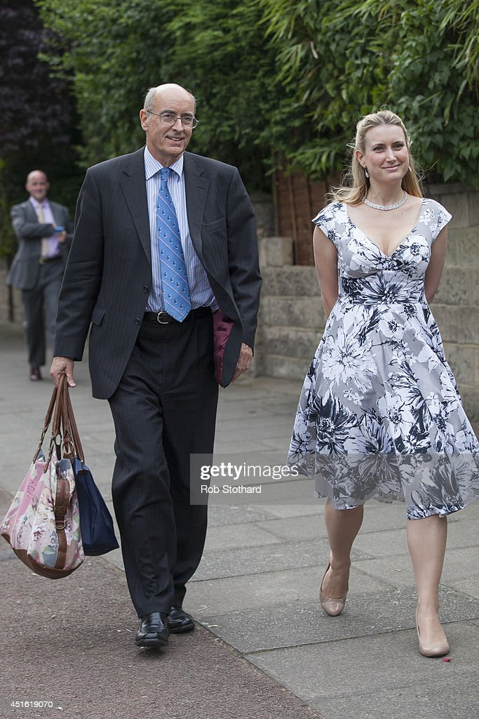 Guests arrive at the Conservative Party Summer Party at the Hurligham Club on July 2 2014 in London England