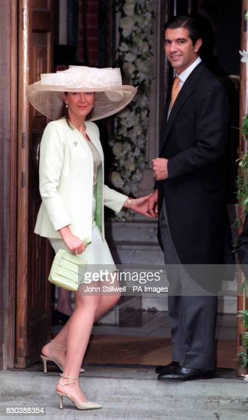 Guests arrive at the Greek Orthodox Cathedral of St Sophia in Bayswater west London for the wedding of Princess Alexia of Greece to Carlos Morales...