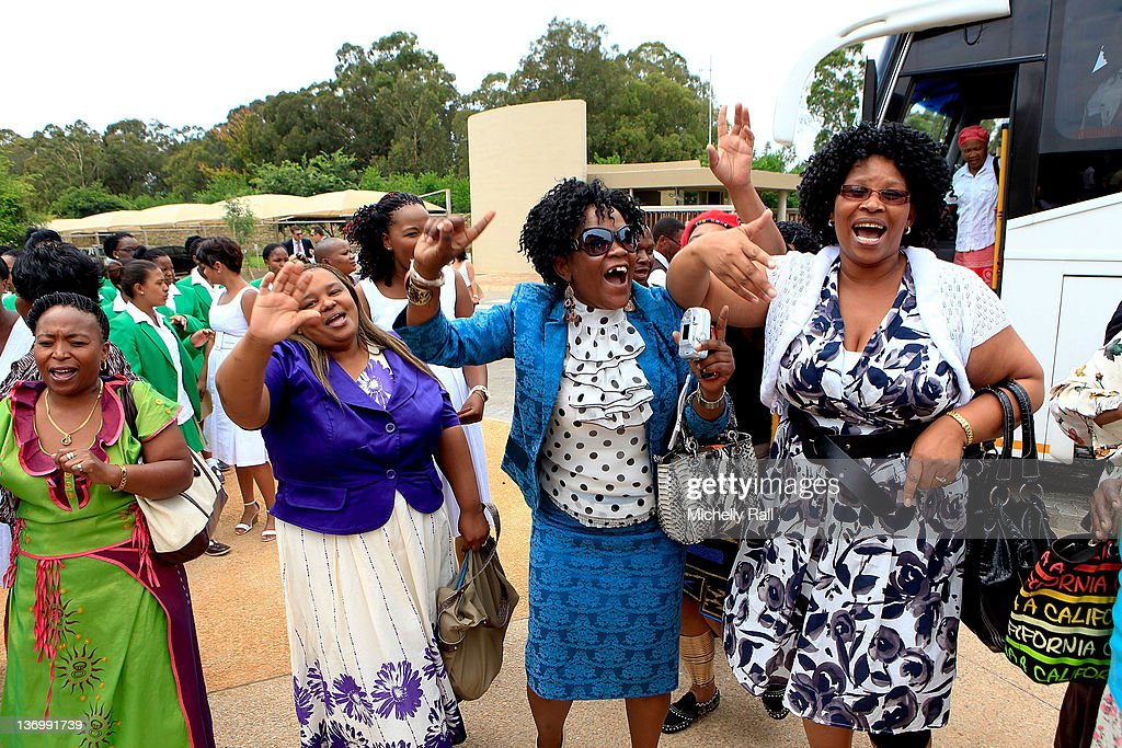 Guests arrive at the inaugural graduation of the class of 2011 at Oprah Winfrey Leadership Academy for Girls on January 14, 2012 in Henley on Klip, South Africa.