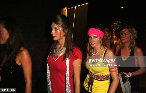 Guests arrive at the Renaissance Rooms in south London for the DayGlo Midnight Roller Disco an event organised by Kate Middleton for her friend...