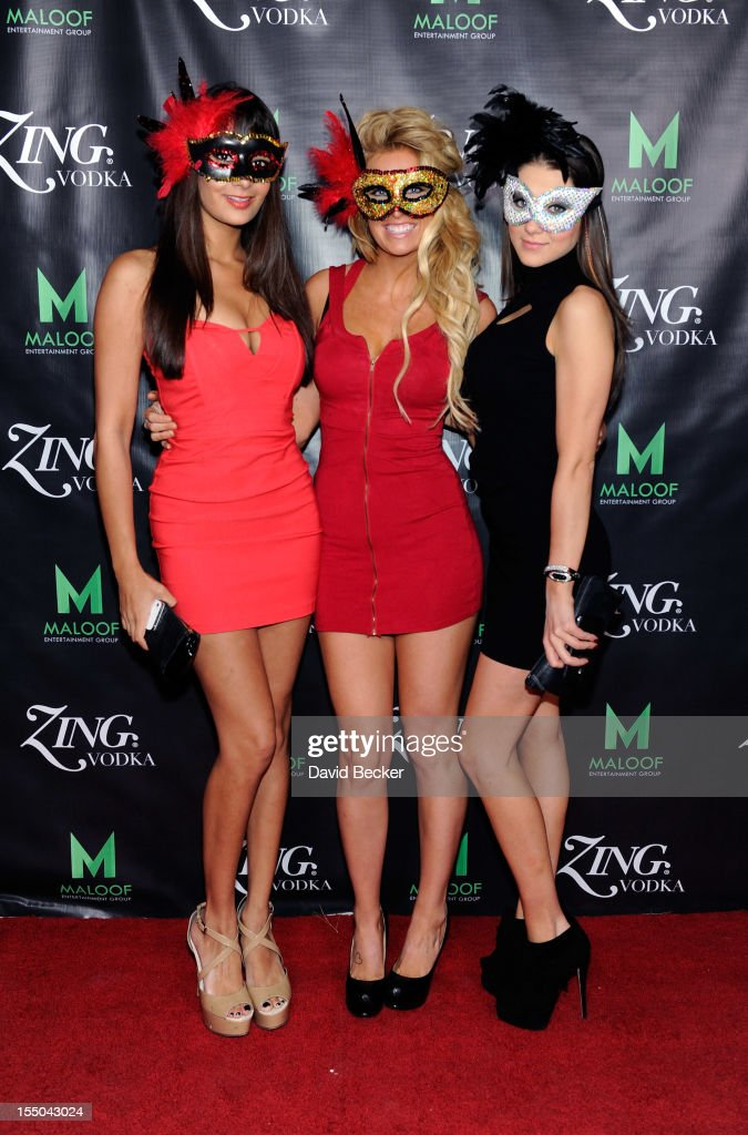 Guests arrive at the ZING Vodka's Las Vegas launch party at Sacramento Kings co-owner Gavin Maloof's home on October 30, 2012 in Las Vegas, Nevada.