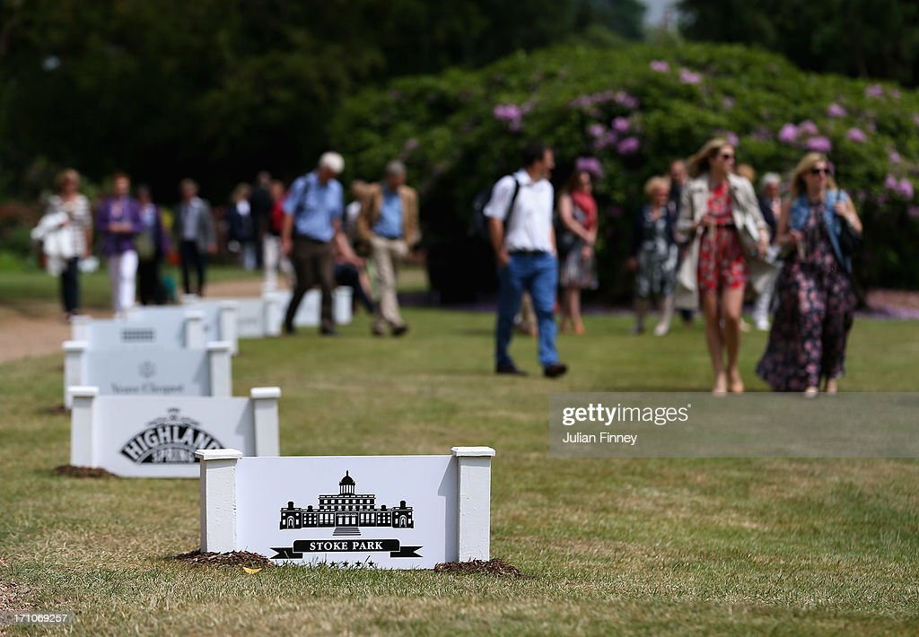 Guests arrive before play at The Boodles Tennis Event at Stoke Park on June 21, 2013 in Stoke Poges, England.