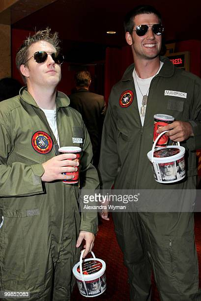 Guests arrive before the screening of 'Top Gun' during AFI Walt Disney Pictures' 'A Cinematic Celebration of Jerry Bruckheimer' held at the Mann...