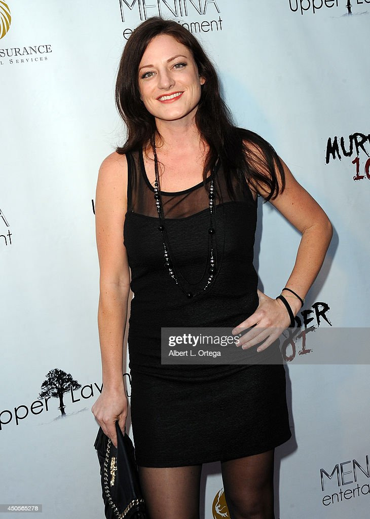 guests arrive for the Premiere Of Upper Laventille's'Murder 101' held at Raleigh Studios' Chaplin Theater on June 12, 2014 in Los Angeles, California.
